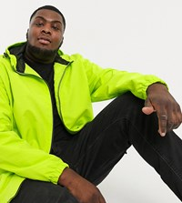 Jacamo Lightweigtht Jacket With Hood In Lime Green