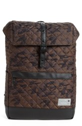 Hex Men's 'Alliance' Water Resistant Backpack Green Quilted Camo