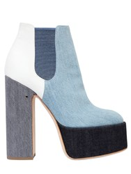 Laurence Dacade 150Mm Patchwork Denim Boots