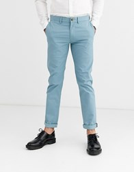 Ben Sherman Slim Fit Stretch Chino Trousers Blue