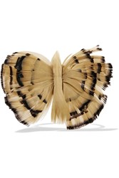 Valentino Feather And Suede Bracelet Nude