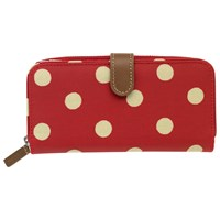 Cath Kidston Button Spot Global Wallet Berry