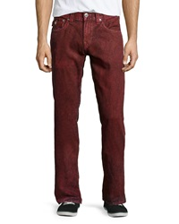 True Religion Straight Flap Pocket Jeans Coalwood Red