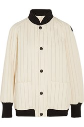 Marni Quilted Cotton Blend Bomber Jacket White