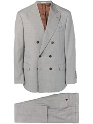 Brunello Cucinelli Double Breasted Suit Grey