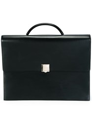 Lanvin Vintage Leather Briefcase Black