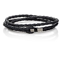 Miansai Men's Ipsum Wrap Bracelet Black Blue Black Blue