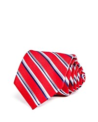 Bloomingdale's The Men's Store At Thick Multi Stripe Classic Tie Red