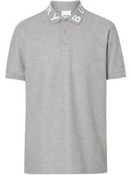 Burberry Logo Polo Shirt Grey