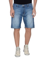 Sun 68 Denim Denim Bermudas Men Blue