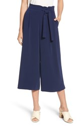 Anne Klein Belted Cropped Trousers Eclipse