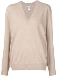 Tomas Maier V Neck Sweater Nude And Neutrals