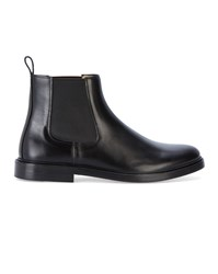 A.P.C. Black Smooth Leather Chelsea Boots