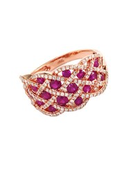 Effy Ruby And Diamond 14K Rose Gold Ring Ruby Rose Gold