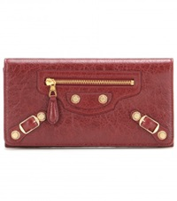 Balenciaga Giant Money Leather Wallet Red