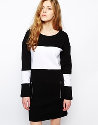 Libertine Libertine Figgy Dress In Monochrome With Zips Black