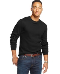Club Room Big And Tall Thermal Long Sleeve T Shirt Only At Macy's Deep Black