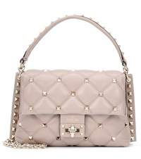 Valentino Garavani Candystud Medium Leather Shoulder Bag Pink