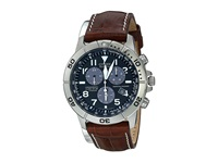 Citizen Bl5250 02L Eco Drive Perpetual Calendar Chronograph Watch Leather Band Navy Dress Watches Brown