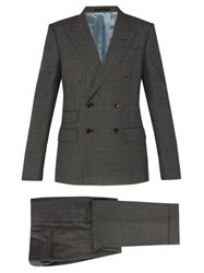 Gucci Double Breasted Wool Suit Grey
