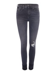 Calvin Klein High Rise Skinny Rebel Jeans Grey