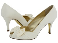 Nina Forbes Ivory Luster Satin Women's Bridal Shoes Bone