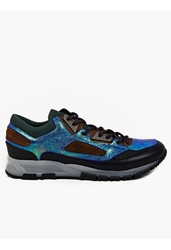 Lanvin Men's Iridescent Leather Running Sneakers