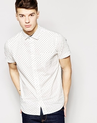Brave Soul Short Sleeve Shirt In Spot White