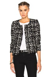 Iro Nalokie Jacket In Black Checkered And Plaid Black Checkered And Plaid