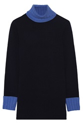 Magaschoni Cashmere Turtleneck Sweater Blue