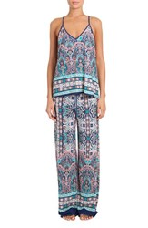 In Bloom By Jonquil Women's Knit Pajamas Peacock Medallion