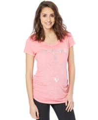 Motherhood Maternity Graphic T Shirt Light Pink