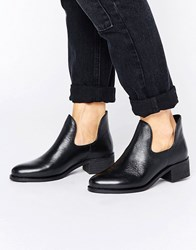 Park Lane Low Rise Boot Black Leather