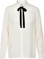 Soaked In Luxury Tie Ribbon Shirt Winter White