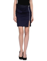 Scee By Twin Set Knee Length Skirts Dark Blue