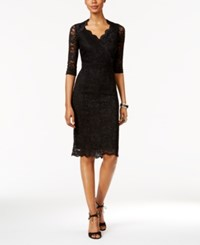 Thalia Sodi Lace Empire Sheath Dress Only At Macy's Deep Black