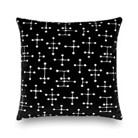 Vitra Eames Small Dot Pattern Document Cushion 40X40cm Black White