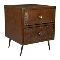 Amara Leather Studded Drawers Tan