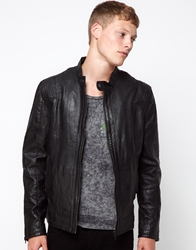 Barney's Originals Barneys Originals Leather Jacket Biker Black