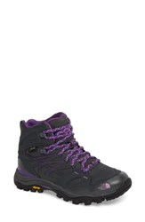 The North Face 'Hedgehog Fastpack' Midi Gore Tex Waterproof Hiking Shoe Dark Shadow Grey Violet Tulle