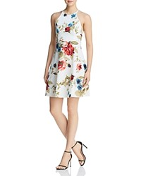 Aqua Strappy Floral Print Dress 100 Exclusive Natural