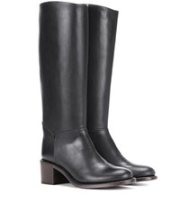 A.P.C. Iris Leather Knee High Boots Black