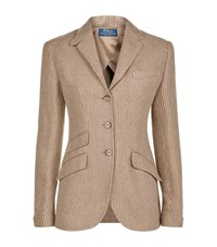 Polo Ralph Lauren Tweed Blazer Female Green