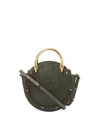 Chloe Pixie Small Round Double Handle Tote Bag Green