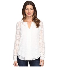 Nydj Irina Embroidered Blouse Sugar Women's Blouse Bone