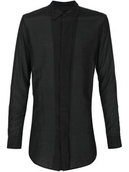 Julius Sheer Panelled Shirt Black