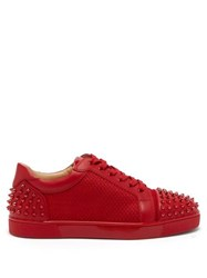 Christian Louboutin Seavaste 2 Spiked Leather Low Top Trainers Red