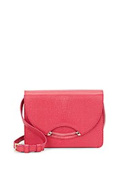 Charlotte Olympia Clift Lizard Effect Leather Shoulder Bag And Comb Set Light Pink