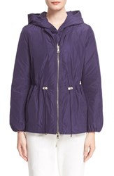 Women's Moncler 'Jol' Water Resistant Hooded Down Rain Jacket