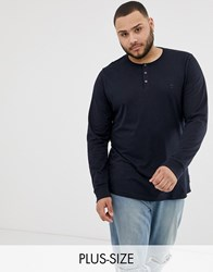 French Connection Plus Plain Grandad Long Sleeve Top Navy